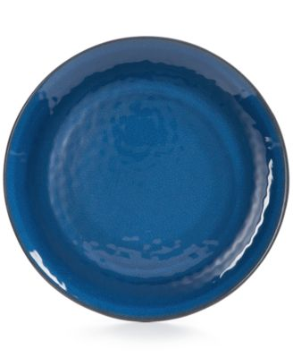 Home Design Studio Indigo Melamine Dinnerware Collection Dinner Plate, Only at Macy's