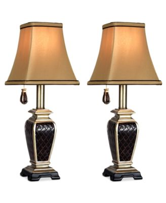 StyleCraft Set of 2 Brompton Pull-Chain Accent Lamps