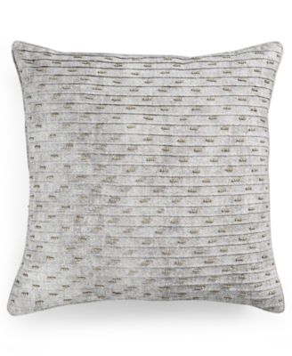 "Hotel Collection Eclipse Beaded Texture 20"" Square Decorative Pillow, Only at Macy's"