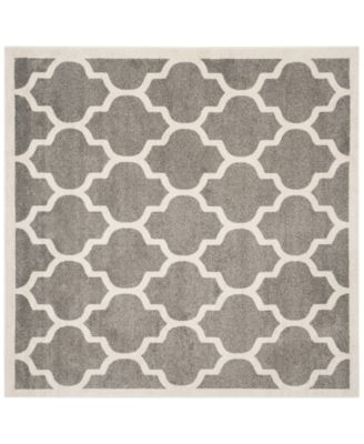 Safavieh Amherst Indoor/Outdoor AMT420R Dark Grey/Beige 7' x 7' Square Area Rug
