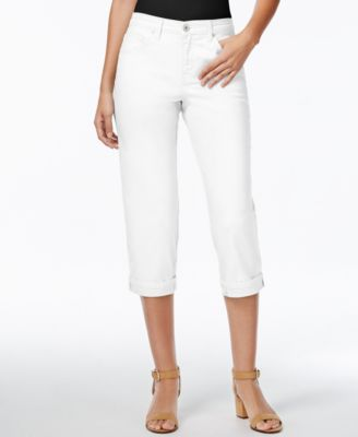 Image of Style & Co. Tummy-Control Cuffed Capri Jeans