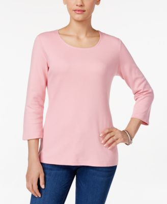 Image of Karen Scott Scoop-Neck Top, Only at Macy's