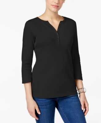 Image of Karen Scott Henley Top, Only at Macy's