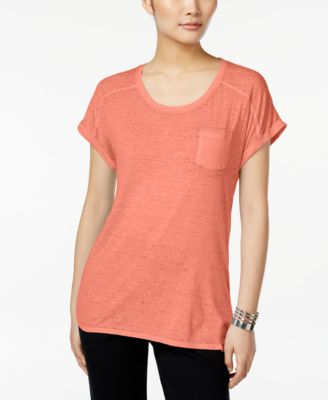 Image of Style & Co. Burnout T-Shirt, Only at Macy's