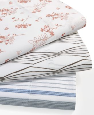 Organic Cotton 300 Thread Count Printed Queen Sheet Set GOTS Certified