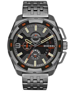 Diesel Men's Chronograph Heavyweight Gunmetal Ion-Plated Stainless Steel Bracelet Watch 50x56mm DZ4394