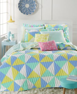 Whim by Martha Stewart Collection Kaleidoscope Caribbean Sea Twin Quilt, Only at Macy's