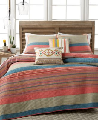Martha Stewart Collection Western Horizon King Quilt, Only at Macy's