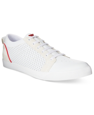 Armani Jeans Men's Low-Top Perforated Sneakers Men's Shoes