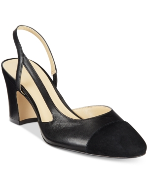 Ivanka Trump Liah Slingback Block-Heel Pumps Women's Shoes
