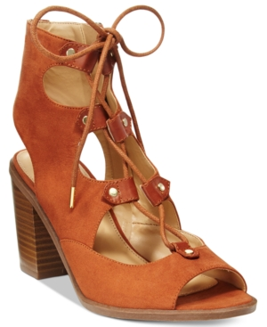Circus by Sam Edelman Kiera Lace-Up Block-Heel Sandals Women's Shoes