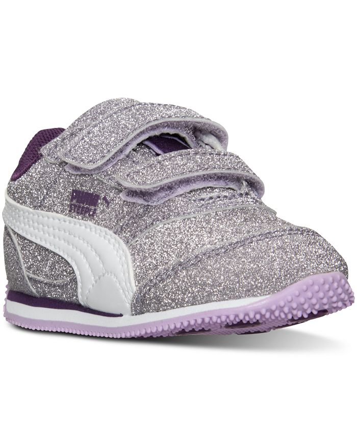 Puma - Toddler Girls' Steeple Glitz Velcro Casual Sneakers from Finish Line