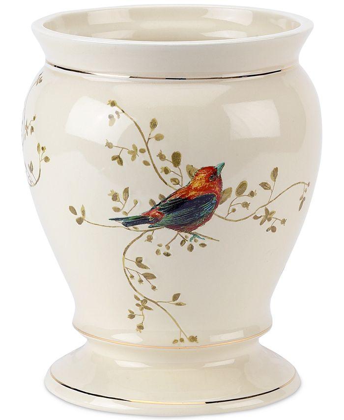 Avanti - Gilded Birds Trash Can