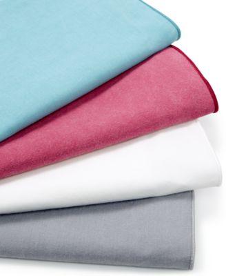 Calvin Klein Washed Essentials Color Wash Cotton Percale Queen Sheet Set