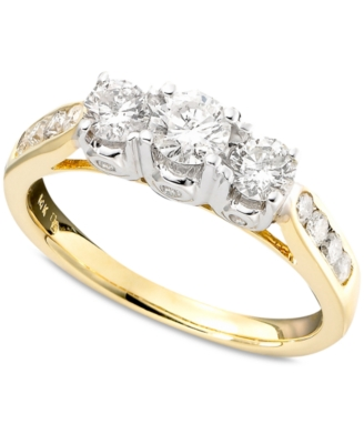 14k Two Tone Gold Ring, Diamond (1 ct. t.w.)