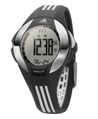 Adidas Watch, Black and Silver Polyurethane Strap ADP1642