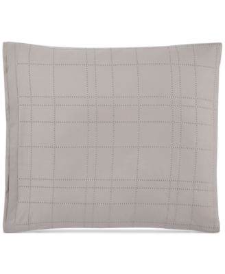 Hotel Collection Modern Plaid European Shams, Set of 2, Only at Macy's