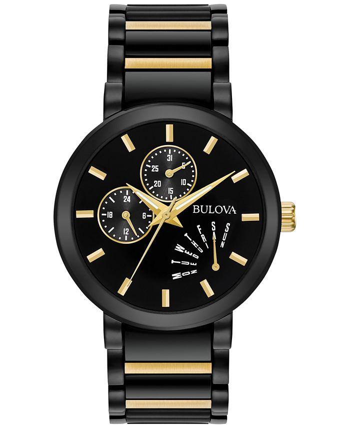 Bulova - Men's Dress Two-Tone Stainless Steel Bracelet Watch 45mm 98C124