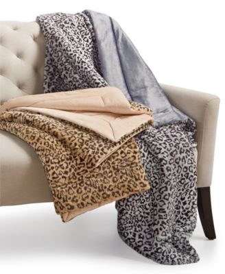 Charter Club Cozy Faux-Fur Leopard-Print Throw, Only at Macy's