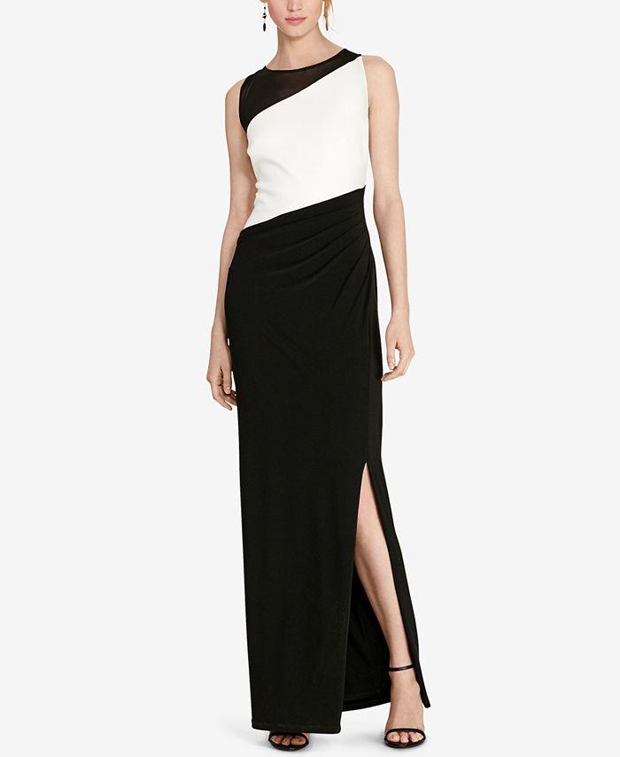 Lauren Ralph Lauren - Colorblocked Jersey Gown