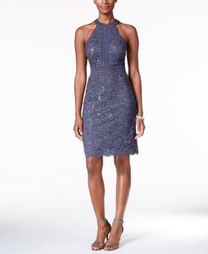 ebfa109a9a2 ... UPC 714455136886 product image for Nightway Sequined Lace Halter Sheath  Dress