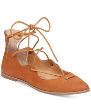 Lucky Brand Women's Billoh Lace-Up Flats Women's Shoes