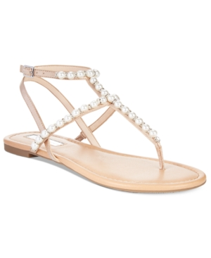 Inc International Concepts Madigane Embellished Flat Sandals, Only at Macy's Women's Shoes