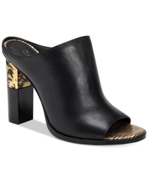 Calvin Klein Kasidy Peep-Toe Mules Women's Shoes