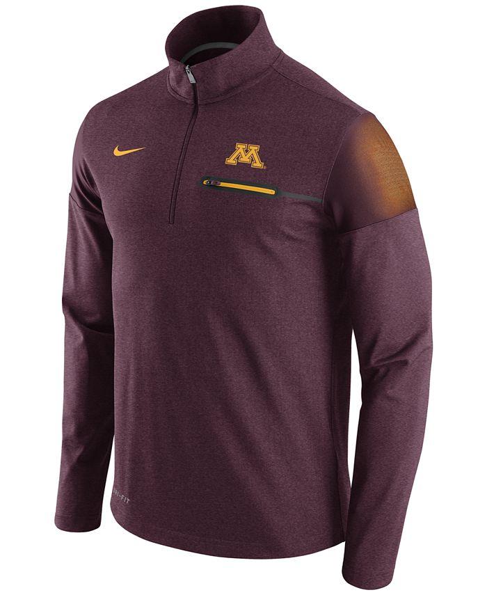 Nike - Men's Minnesota Golden Gophers Elite Coaches Half-Zip Pullover