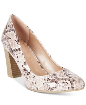 Style & Co. Asyaa Block-Heel Pumps, Only at Macy's Women's Shoes