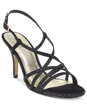 Adrianna Papell Acacia Strappy Slingback Evening Sandals Women's Shoes