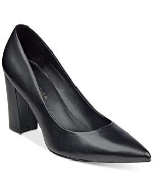Marc Fisher Daniela Pointy-Toe Block-Heel Pumps Women's Shoes
