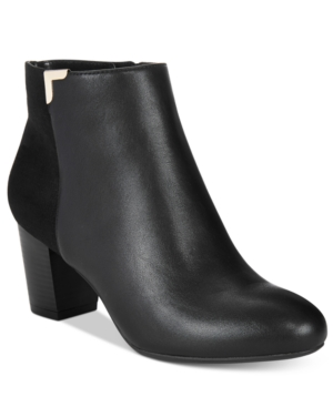 Karen Scott Gahriet Block-Heel Booties, Only at Macy's Women's Shoes