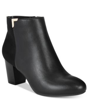 Karen Scott Gahriet Block-Heel Booties, Only at Macy's Women's Shoes