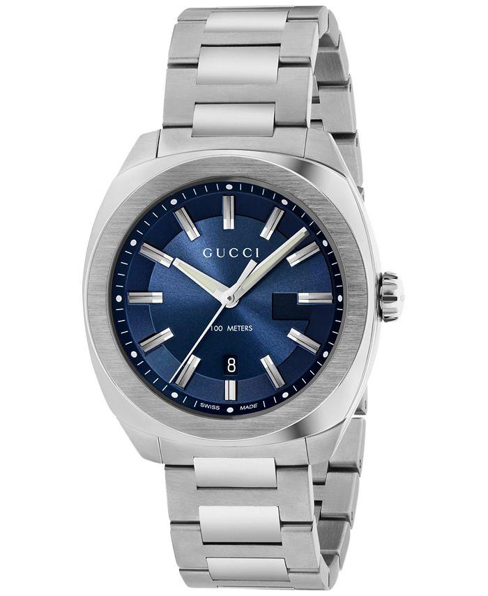 Gucci - Men's Swiss Cushion Stainless Steel Bracelet Watch 41mm YA142303
