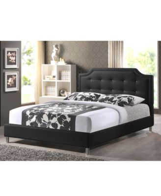 Ashima Modern King Bed with Upholstered Headboard