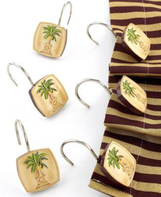"""Avanti """"Banana Palm"""" Shower Curtain Hooks"""