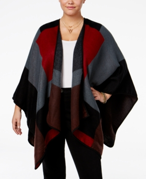 Love Squared Trendy Plus Size Poncho Cardigan