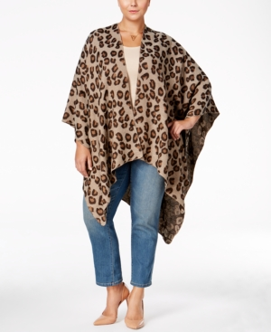 Love Squared Trendy Plus Size Poncho Sweater