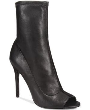 Aldo Women's Eliliane Peep-Toe Stretch Sock Booties