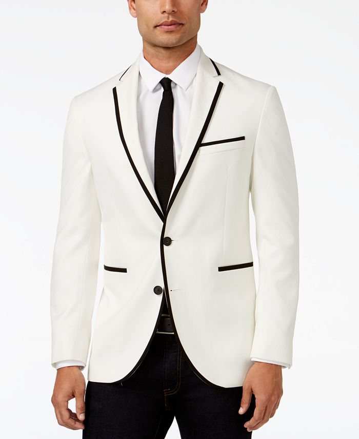 Kenneth Cole Reaction - White Evening Slim-Fit Sport Coat