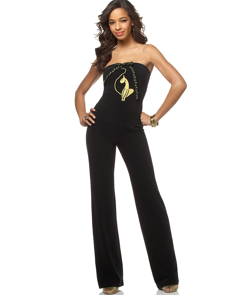 9a5239ecbb Baby Phat Plus Size Terry Cloth Strapless Jumpsuit customer on PopScreen