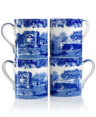 "Spode ""Blue Italian"" Mugs, Set of 4"