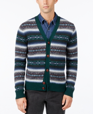 Men's Vintage Style Sweaters – 1920s to 1960s Tommy Hilfiger Mens Fair Isle Cardigan $149.00 AT vintagedancer.com