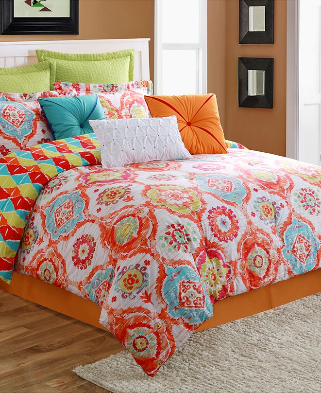 Fiesta Ava 3-Piece Reversible Twin Comforter Set