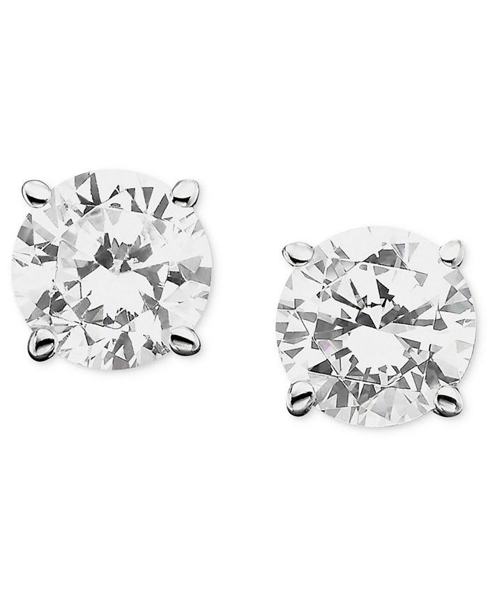 Macy's - Diamond Stud Earrings (1/3 to 1 1/2 ct. t.w.) in 18k White Gold