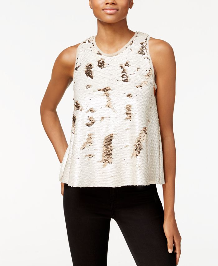 RACHEL Rachel Roy - Sequin Swing Top