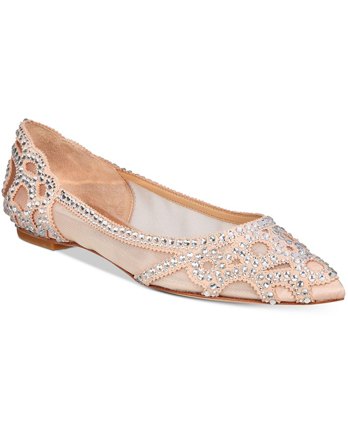 Badgley Mischka - Gigi Pointed-Toe Evening Flats
