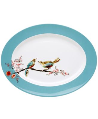 Lenox Simply Fine Dinnerware, Chirp Oval Platter