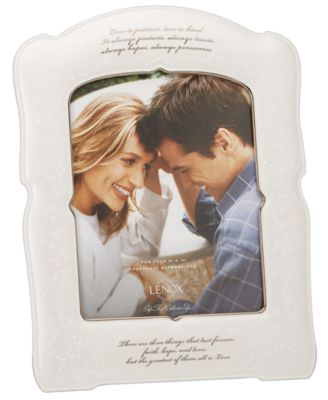"Lenox ""Opal Innocence"" Love is Patient Frame, 8"" x 10"
